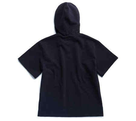 Eastlogue Hooded Half-Sleeve Sweatshirt - Navy