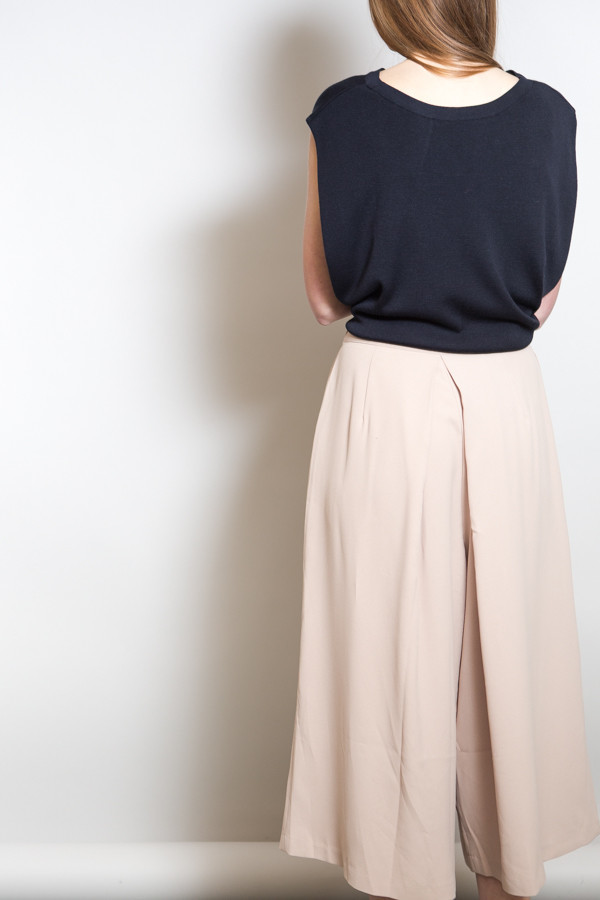 Achro Pleated Wide Leg Culottes