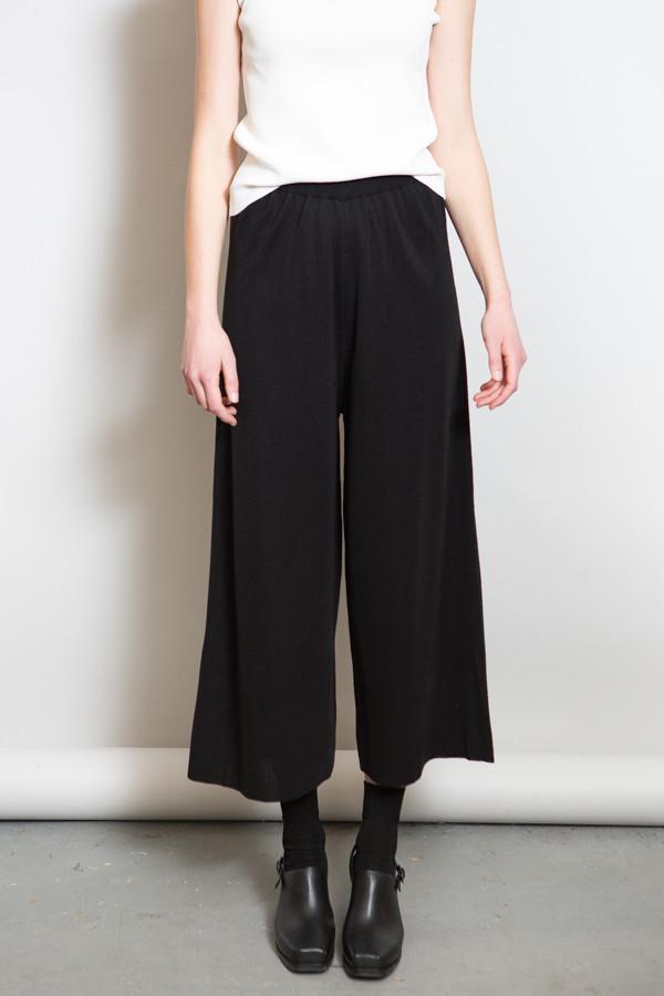 Achro Ribbed Waist Knit Pants / Black