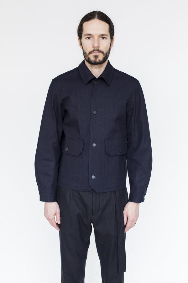 Men's Assembly Cotton Button Jacket - Indigo