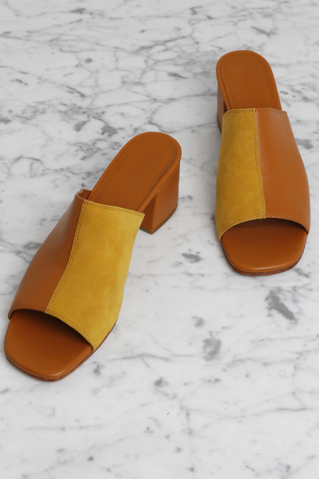 No.6 Leon Slide - Butterscotch/Yellow