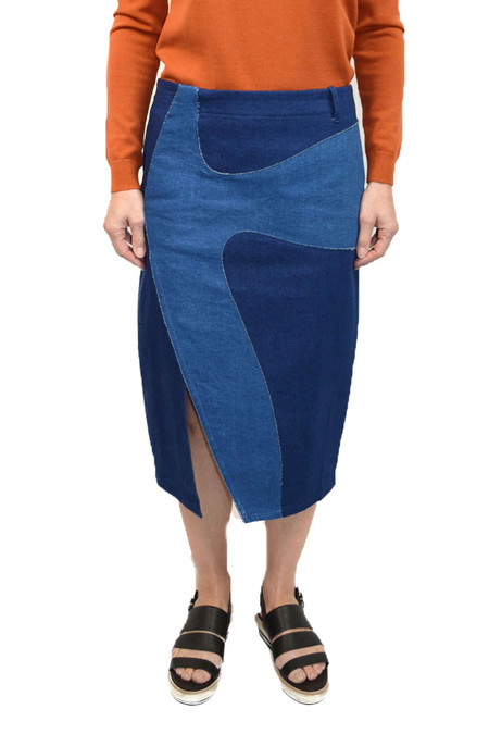 Opening Ceremony Denim Indigo App Skirt
