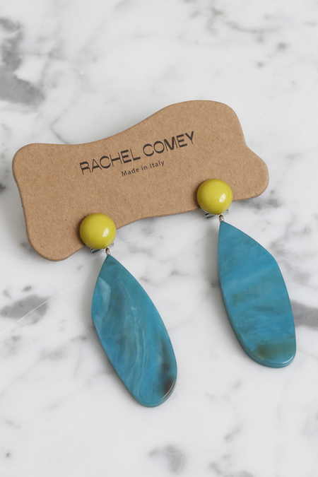 Rachel Comey Splitleap Earrings - Yellow/Green