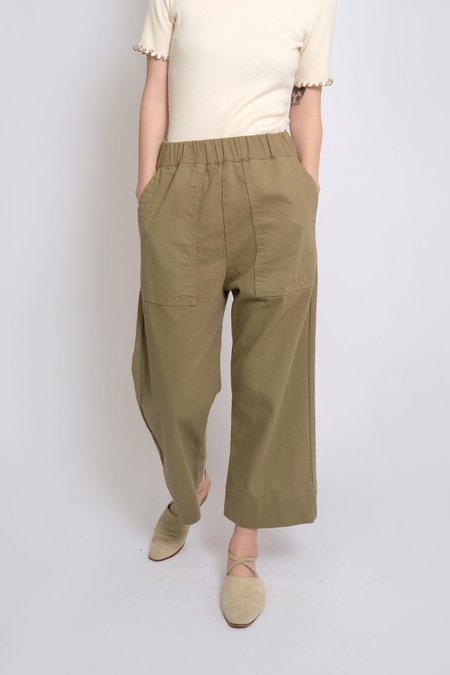 Micaela Greg Utility Pant - Green Tea