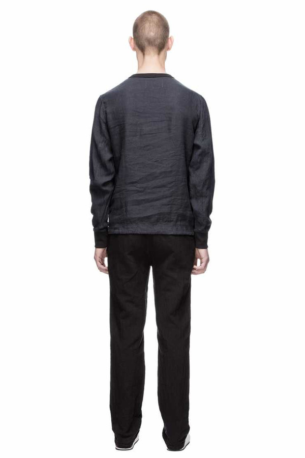 Men's Our Legacy Pullover Anthracite Linen