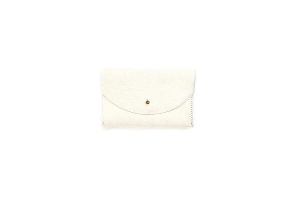 Primecut NATURAL WHITE PASSPORT CLUTCH
