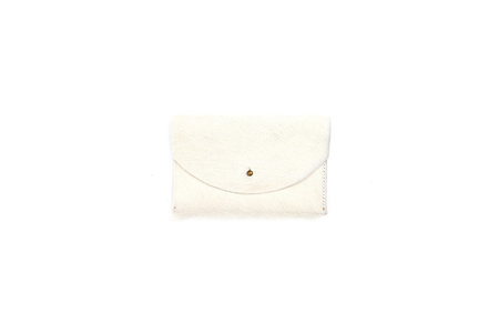 Primecut NATURAL WHITE PASSPORT CLUTCH