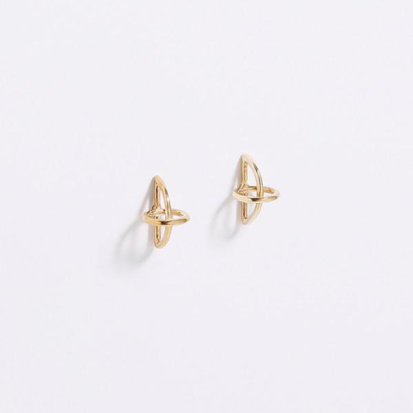 Metalepsis Projects Float Earrings Brass