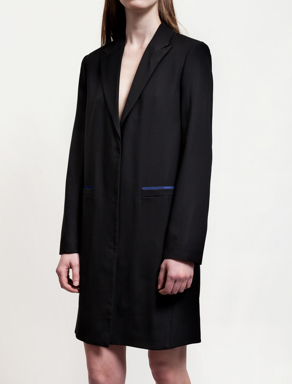 Acne Studios Blair Crepe Jacket Black/Blue