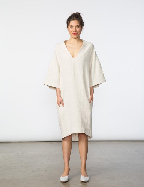 SBJ Austin Sadie Dress in Cream Textured