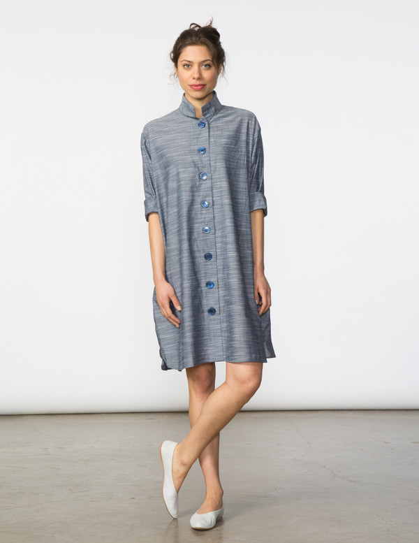 SBJ Austin Stacey Dress in Chambray