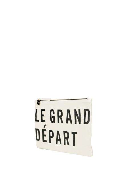 Clare V. Flat Le Grand Depart clutch - cream/black