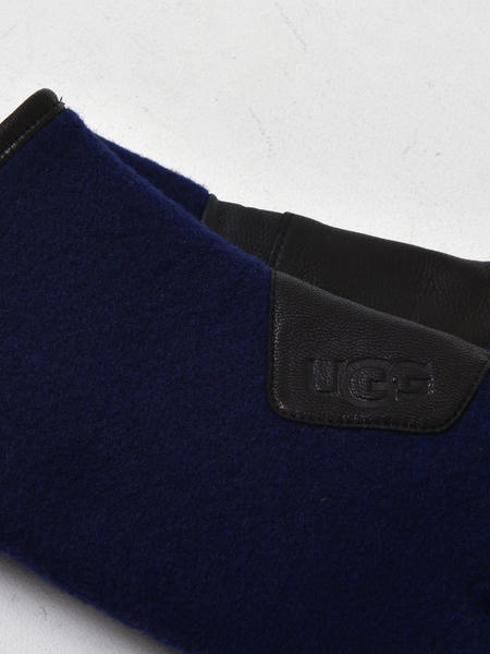UGG M FABRIC AND LEATHER GLOVE - NAVY