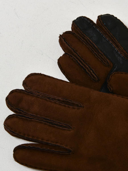 UGG M SLIM SHEEPSKIN GLOVE - CHOCOLATE