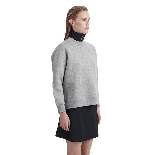 Wood Wood Willow Sweatshirt in Grey Melange