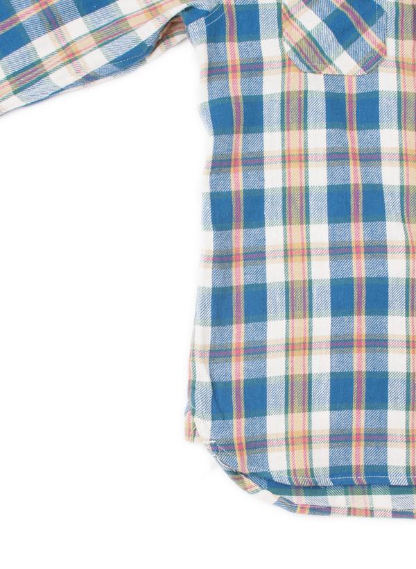 3Sixteen Crosscut Flannel SS16 Blue Check