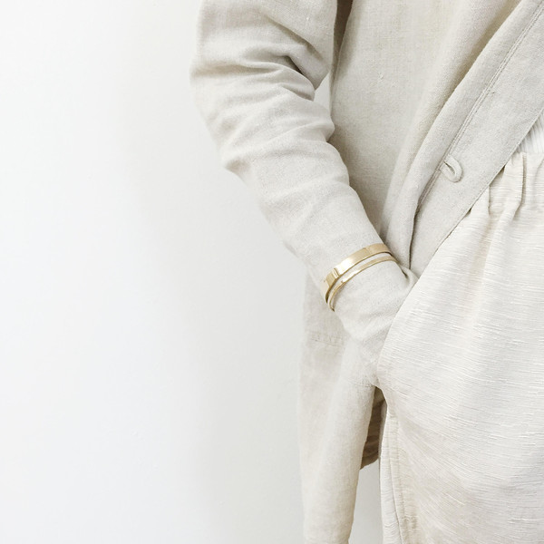 Long Beige Linen Jacket