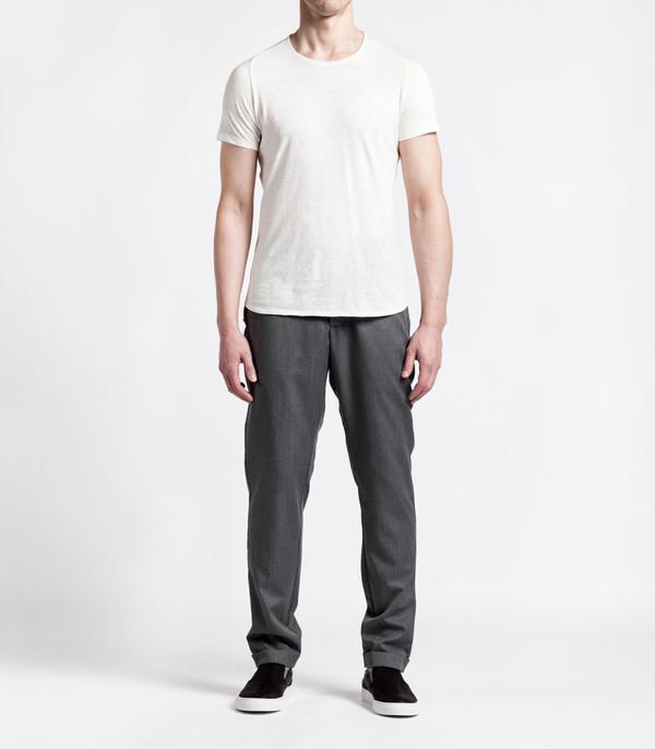 Wings + Horns Men's Knit Silk Jersey S/S WHT