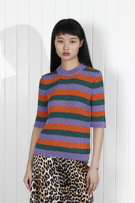 Ganni Adler Knit Top - Block Colour