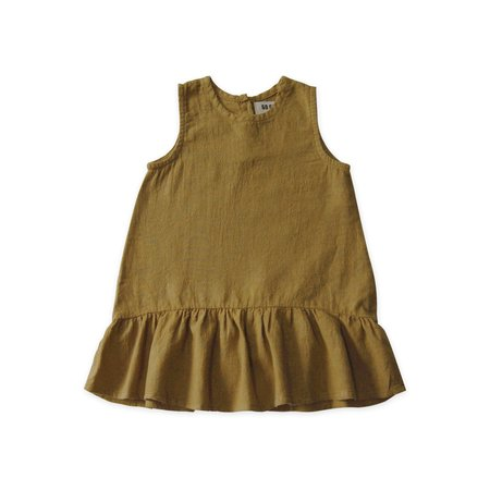 KIDS Go Gently Nation Sleeveless Ruffle Hem Dress - Fennel