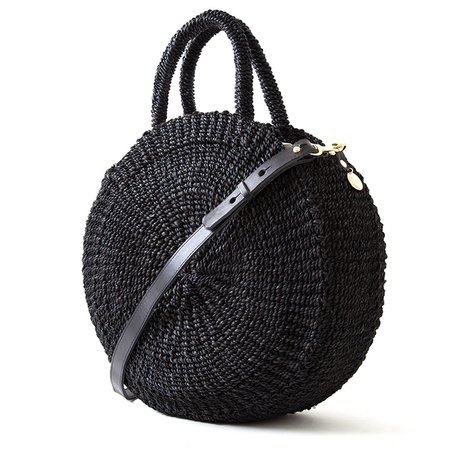 Clare V. Moyen Alice Woven Bag - BLACK