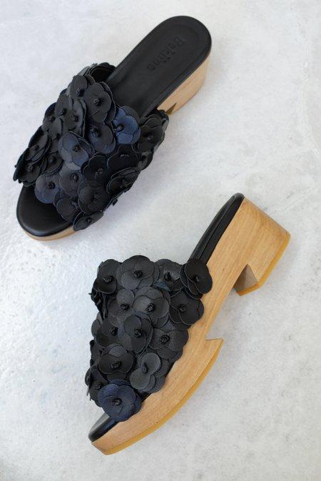 Beklina Floral Tétouan Clog - Black