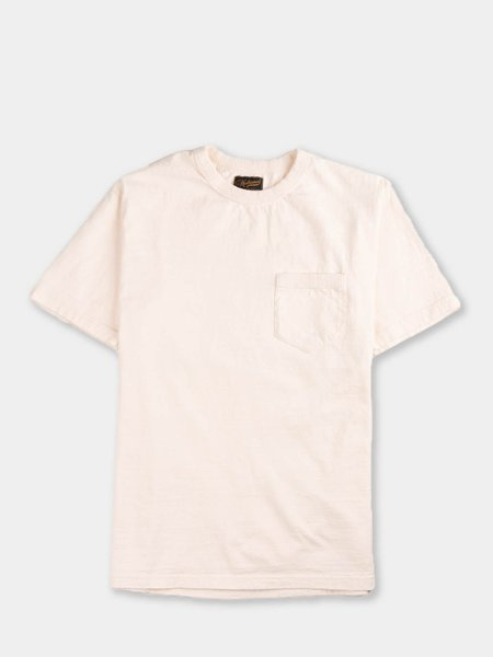National Athletic Goods Rib Pocket Tee - Ecru