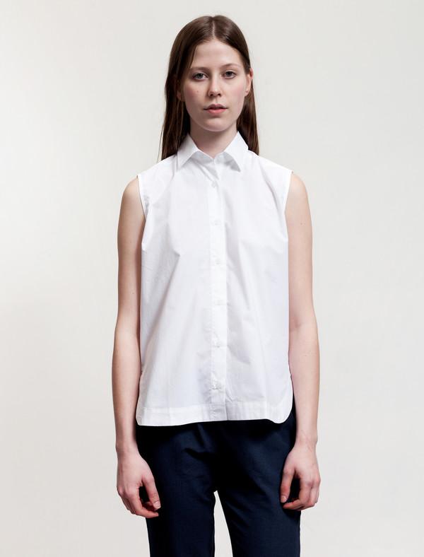 Sunspel Sleeveless Shirt White