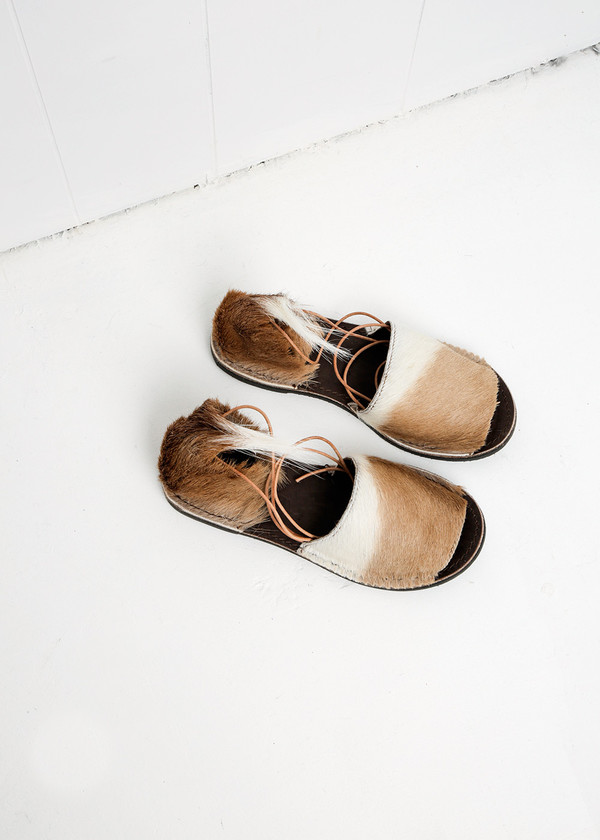 Brother Vellies Natural Springbok Congo Sandal