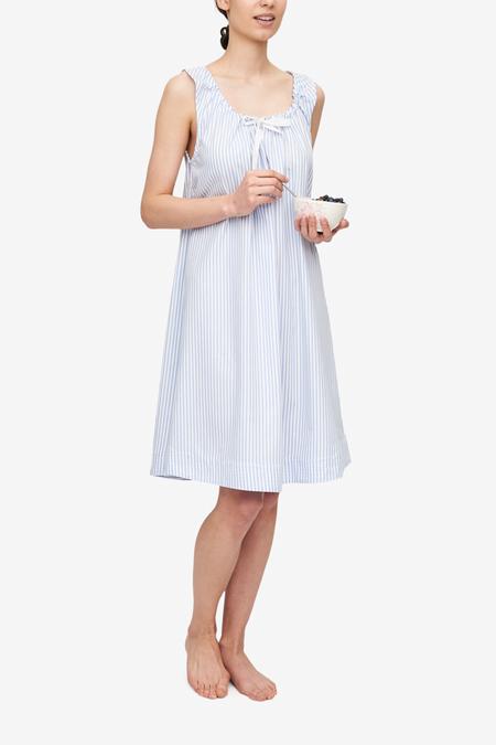24d78aeb1d3d ... The Sleep Shirt x Rosie Daykin Sleeveless Nightie - Sunday Uniform  Stripe