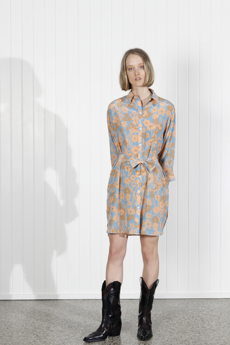 No.6 Lulu Shirt Dress - Sea Meadow