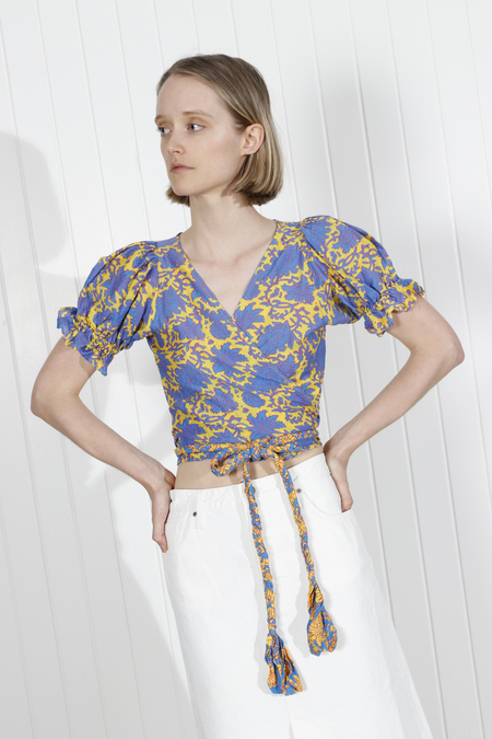 Apiece Apart Chabrol Wrap Top - Sun