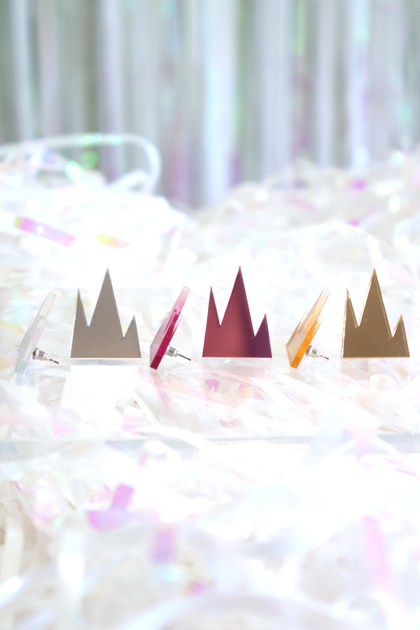 R/H STUDIO Mirrored Mountain Earrings