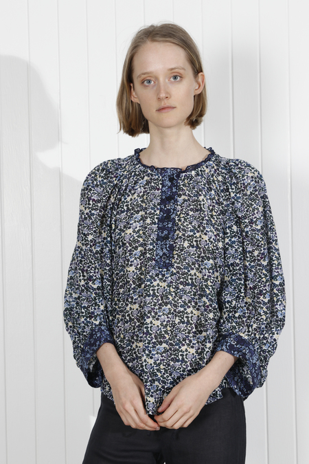Apiece Apart Everlasting Floral Top - Navy