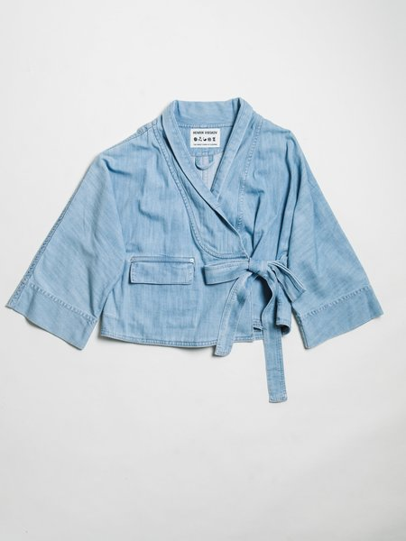 HENRIK VIBSKOV DENIM COFFEE JACKET - Blue
