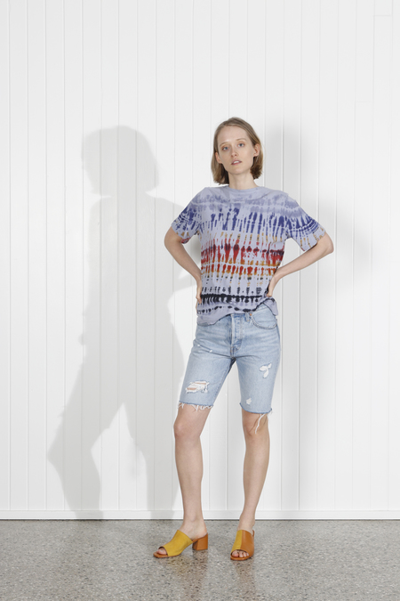 Raquel Allegra Boxy Tee - Waterfall