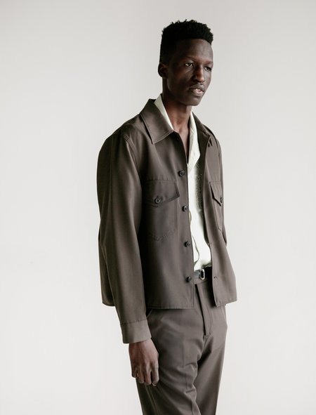 Our Legacy Loan Washed Wool Jacket - Mudd