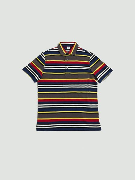 Aspesi Jersey Polo - Multicolor Blue/Grey