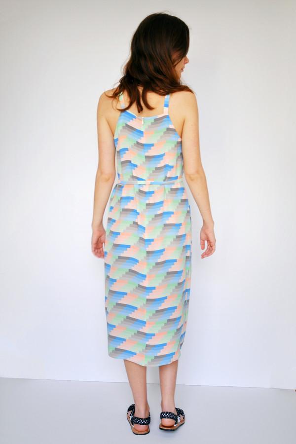 Dusen Dusen Gradient Stripe High Neck Dress