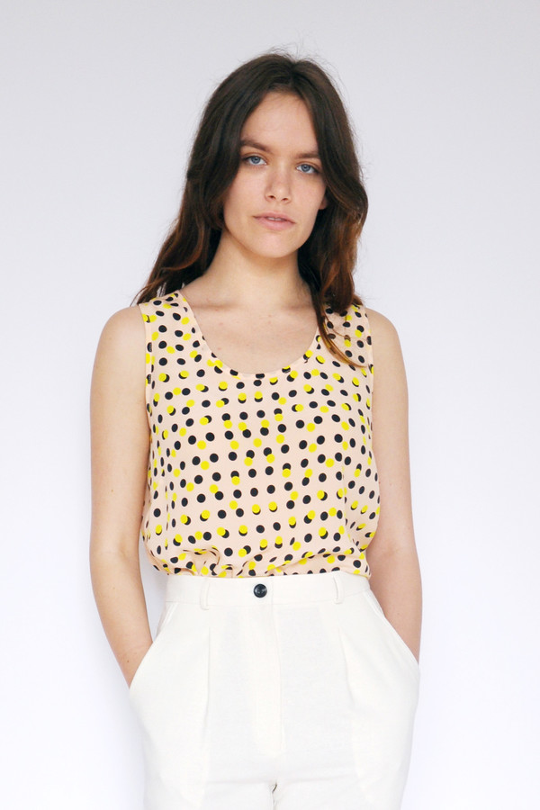 Dusen Dusen Peach Double Dot Tank