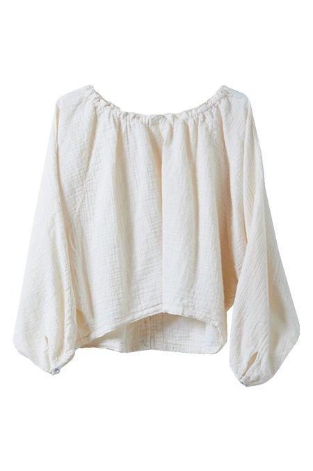 Atelier Delphine Crinkled Cotton Sirena Top - Kinari
