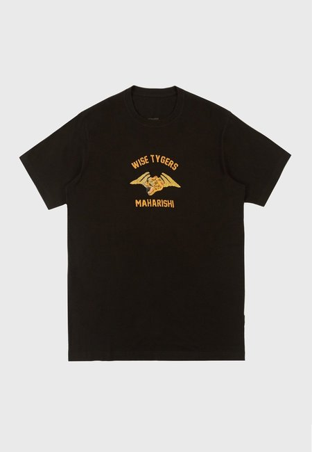 Maharishi Wise Tygers Embroidered T-Shirt - Navy