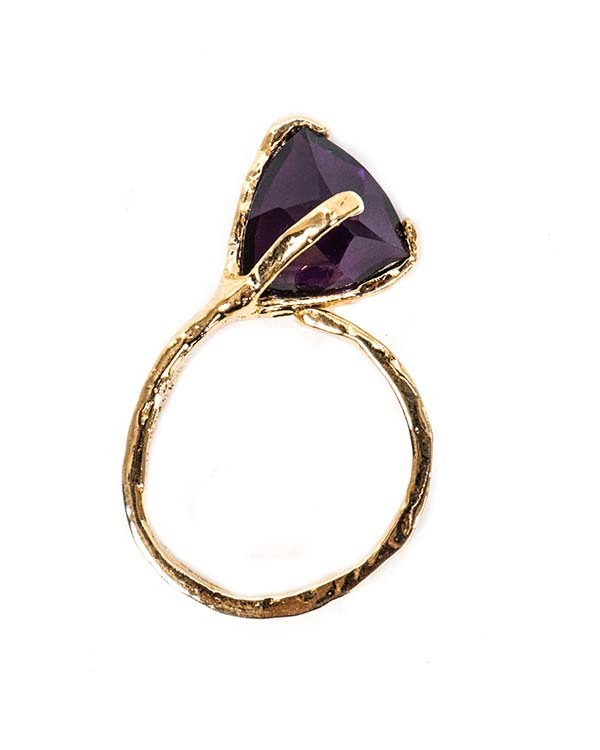 Unearthen Mini Spectra Ring with Purple Amethyst
