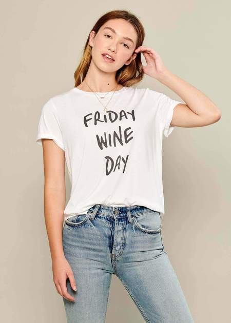 75b84d8be5ffa ... South Parade Friday Wine Day Tee - White