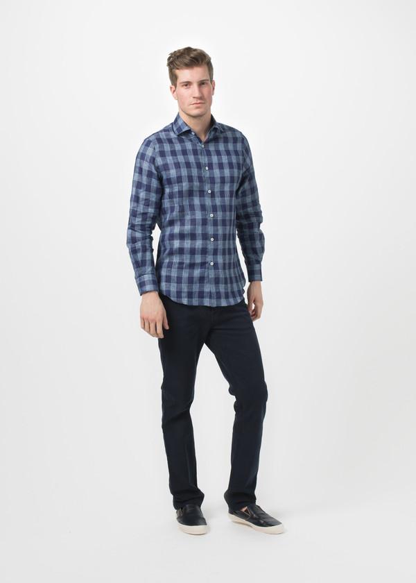 Men's Shockoe Check Spread Collar Shirt