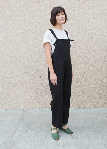 SELVA / NEGRA Isa Overalls - Black Linen