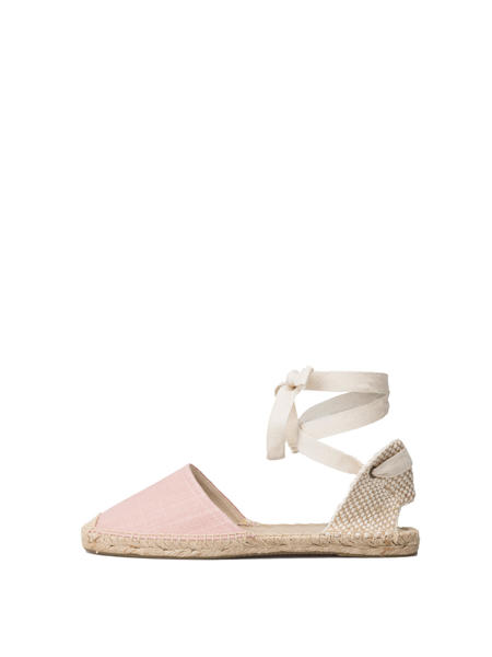 Soludos Classic Stripe Sandal - Dusty Rose