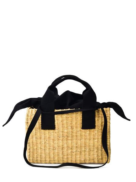 Muun NINON BAG - NATURAL/BLACK POUCH