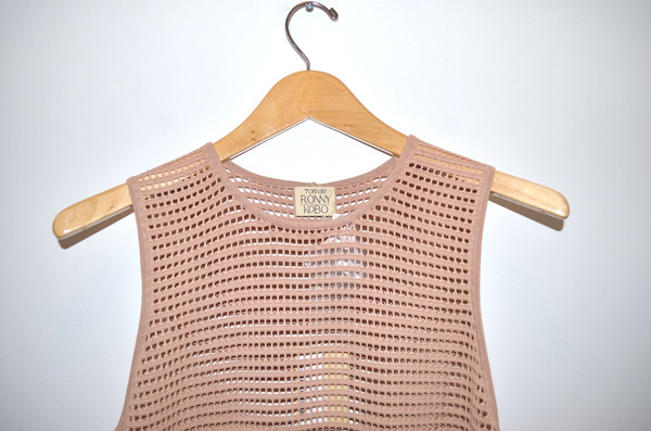 Torn Micha Open Stitch Top