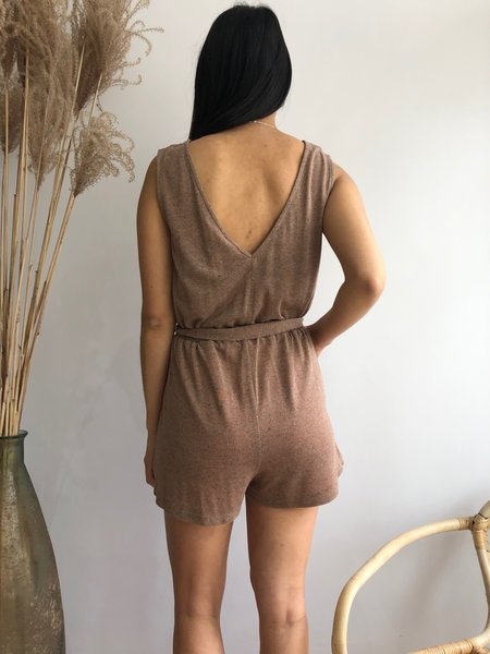 EVE GRAVEL ANDALUSIA JUMPSUIT - FIG